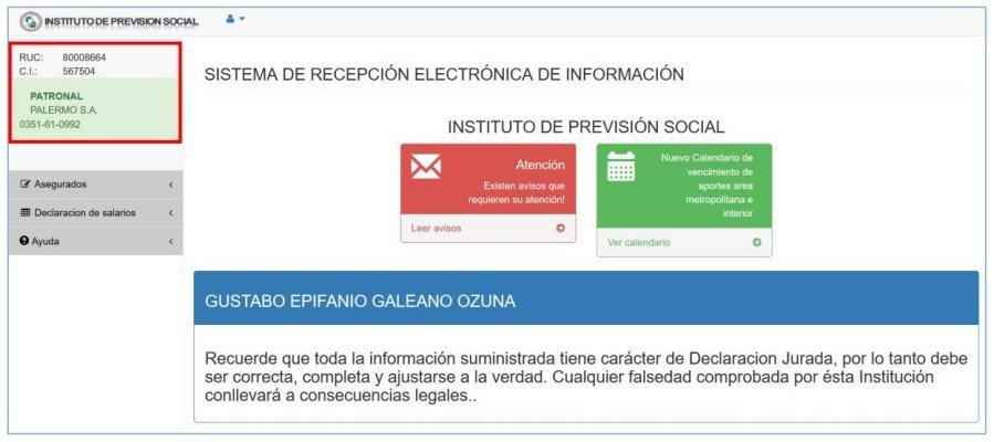 Sistema REI IPS manual del usuario patronal