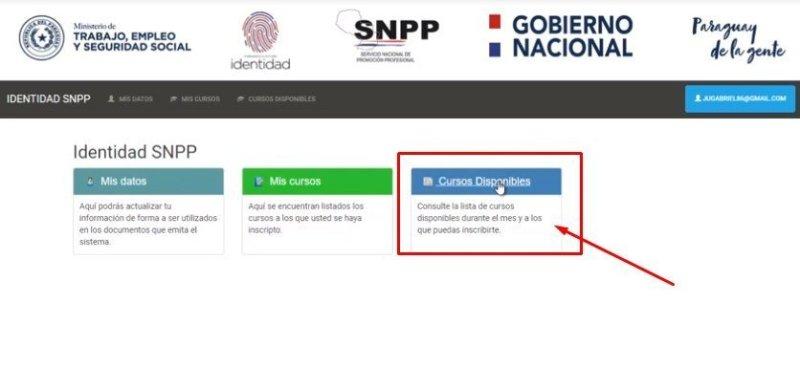 Snpp cursos tutorial para registrarse cursos disponibles