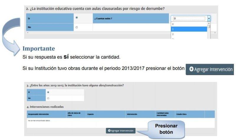 rue registro único del estudiante encuesta infraestructura Paso 4
