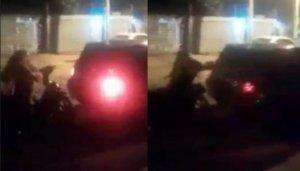[VIDEO] Doña furiosa atacó a su ex y terminó rompiendo todo a piedrazos