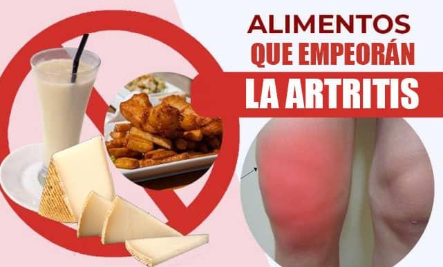 Alimentos que empeoran la artritis