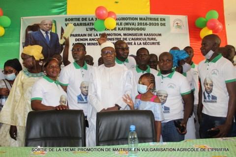 Kassoum DENON en pleine lecture de son discours