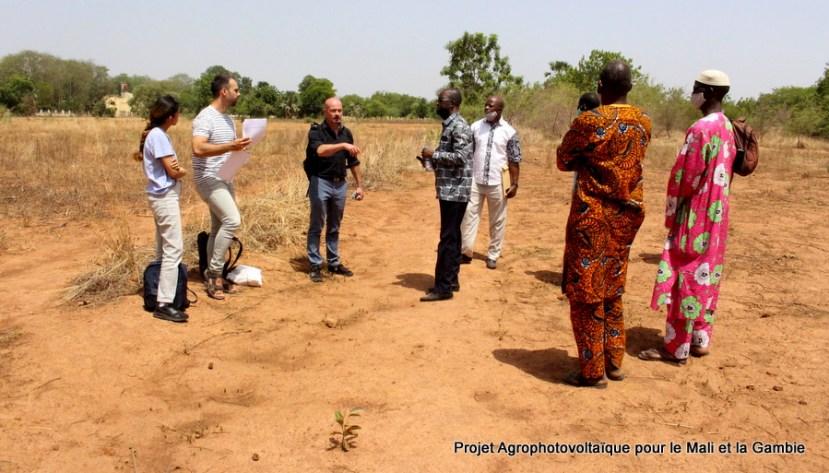 Passage d'une équipe technique allemande à l'IPR/IFRA dans le cadre du projet Agrophotovoltaîque