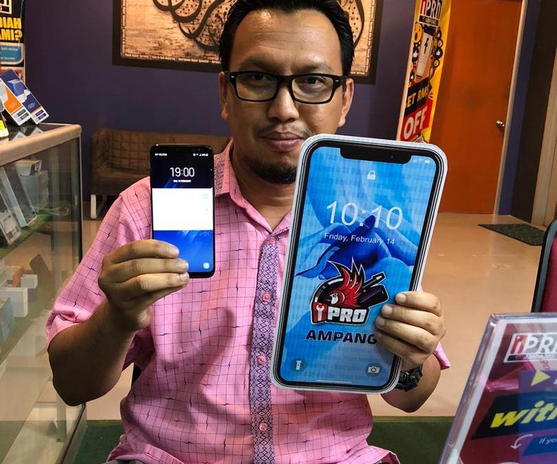 Samsung Galaxy S8 Screen Cracked Repair at iPro Ampang Kuala Lumpur