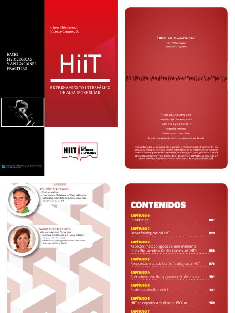 HiiT Entrenamiento interválico de alta intensidad - LOPEZ CHICHARRO- www.iprofe.com.ar