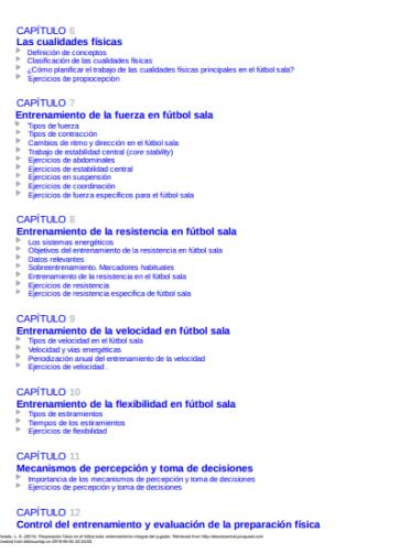 Indice Libro PDF Preparación física en el fútbol sala Entrenamiento integral del jugador_iprofe.com.ar