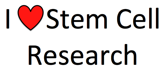 I love stem cell research