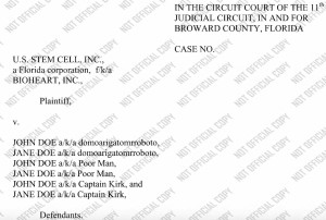 US Stem Cell Libel Suit