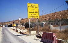 A road meant for Palestinians complete with checkpoint. The main highways are reserved for Israeli settlers. / Credit:Mel Frykberg/IPS