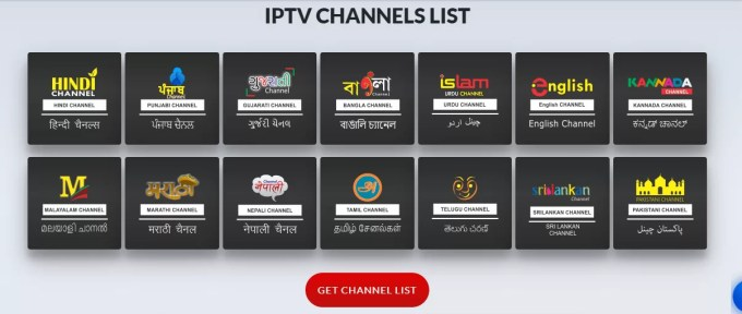 IPTV Channel List