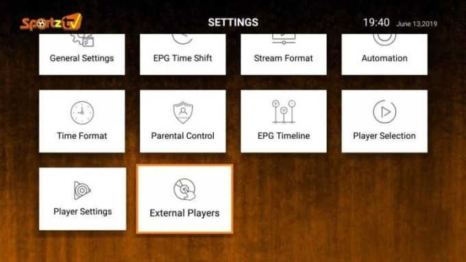 External Players option