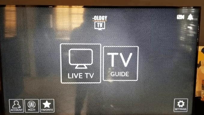 Live TV option