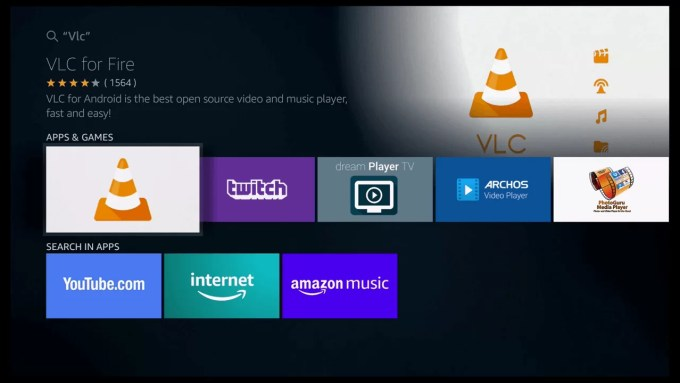 VLC for Fire app
