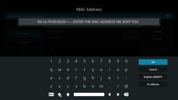 MAC Address - IPTV Express