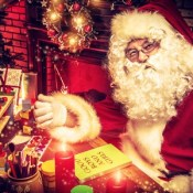 Santa at his workshop
