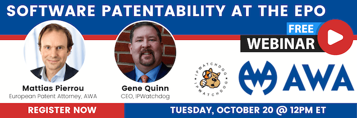 Software Patentability at the EPO 10/20/2020