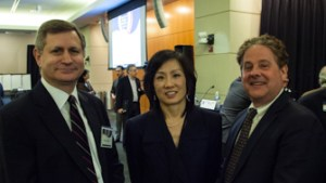 Left to Right: Manny Schecter (IBM), Michelle Lee (USPTO, Bob Stoll (Drinker Biddle)