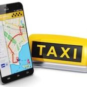 Internet taxi concept.