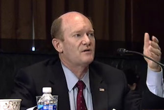 Senator Chris Coons (D-DE), one of the authors of the Defend Trade Secrets Act.