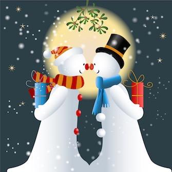 snowman-mistletoe