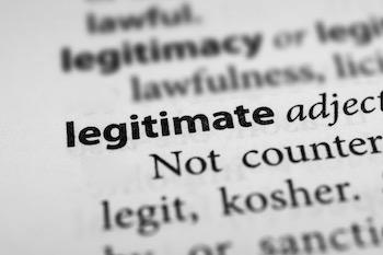 Legitimate definition