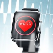 Smartwatch with heart beat icon