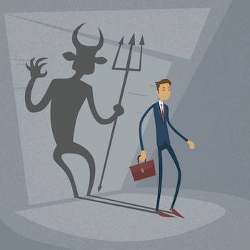 devil-shadow-businessman