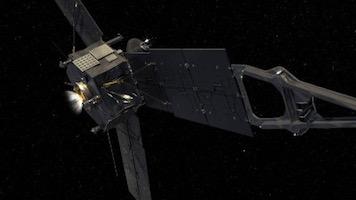 """Juno Fires Its Main Engines"" by NASA/JPL-Caltech. Public domain."