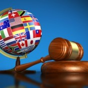 World flags gavel