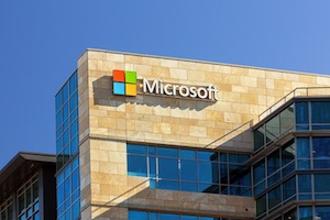 Microsoft corporate building in Santa Clara, California.