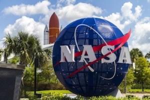 NASA Kennedy Space Center Entrance in Florida