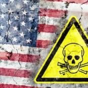 American flag danger