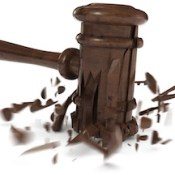 Broken gavel
