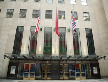 Christie's main headquarters at Rockefeller Plaza in New York.