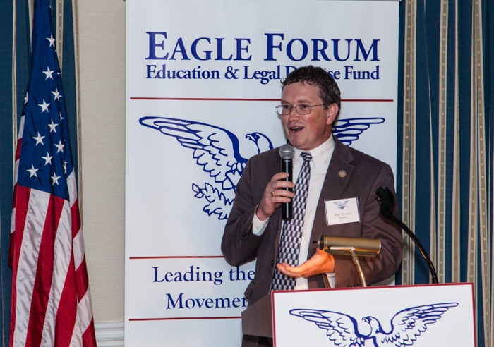 Congressman Thomas Massie (R-KY), himself an inventor with 29 patents, spoke of what patents mean to inventors and debunked the myth that inventors will keep inventing even if no patents are available.