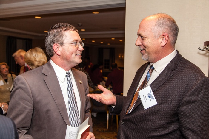 Congressman Thomas Massie (R-KY) chats with inventor Paul Morinville, Managing Director of U.S. Inventor.