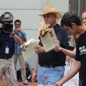 Pictured are Paul Morinville (hat), Josh Malone (glasses) and Randy Landreneau.
