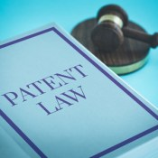 patent law with gavel