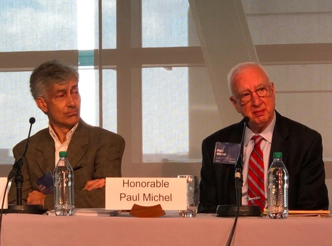 Gary Lauder (L) and Chief Judge Paul Michel (CAFC ret.)