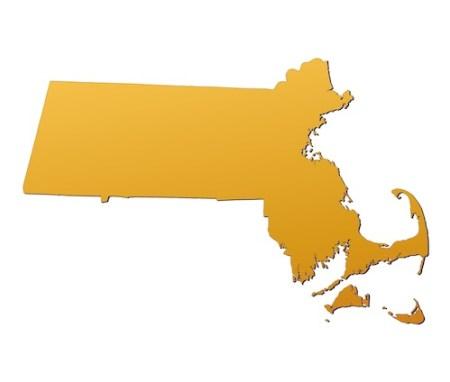Massachusetts map. Source: Deposit Photos.