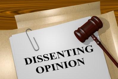 reexamination - https://depositphotos.com/131825256/stock-photo-dissenting-opinion-legal-concept.html