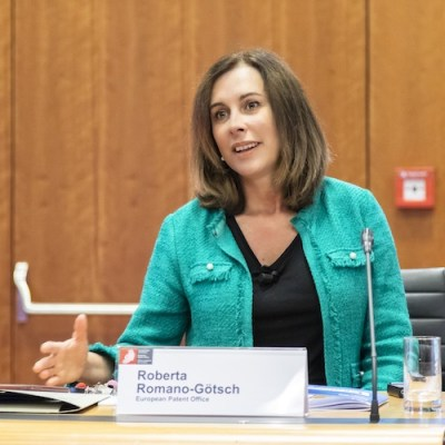 Roberta Romano-Götsch, the chief operating officer of Mobility and Mechatronics at the European Patent Office (EPO)