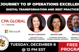 CPA Global – Journey to IP Operations Excellence – Dec 8, 2020