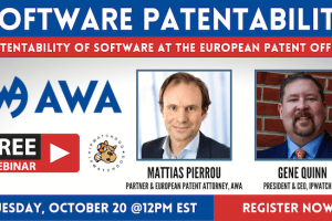 Software Patentability at the European Patent Office – October 20, 2020
