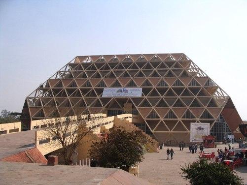 India Hall of Nations - https://en.wikipedia.org/wiki/Pragati_Maidan#/media/File:Pragati_Maidan,_Hall_6.JPG