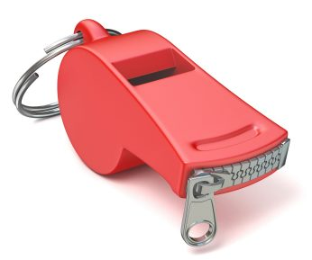 trade secret - https://depositphotos.com/107462850/stock-photo-red-whistle-with-a-closed.html
