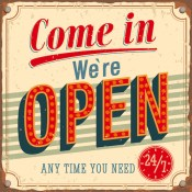 We're Open Vintage