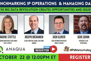 Benchmarking IP Operations & Managing Data – October 22, 2020