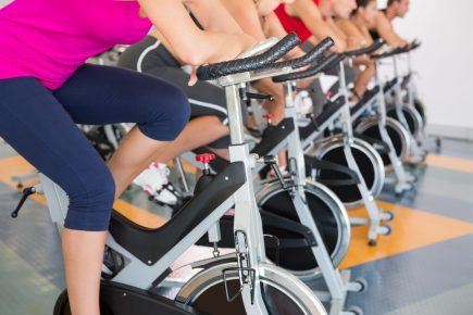 Peloton, exercise bikes - https://depositphotos.com/50053785/stock-photo-spin-class-working-out-in.html