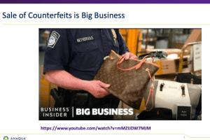 Anaqua – The Global Fight Against Counterfeits – Sep 23, 2021